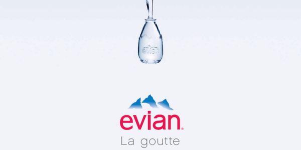 La goutte d'eau d'Evian / Crédit photo : Twitter officiel Evian France